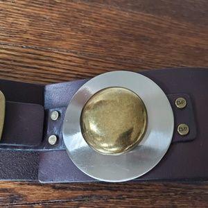 """Diane Von Furstenberg Accessories - Diane Von Furstenberg DVF Leather Metal Belt 36.5"""""""